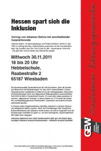 2. Wiesbadener Bildungsgespräch laden die Kreisverbände Wiesbaden, Rheingau und Untertaunus der Gewerkschaft Erziehung und Wissenschaft (GEW)