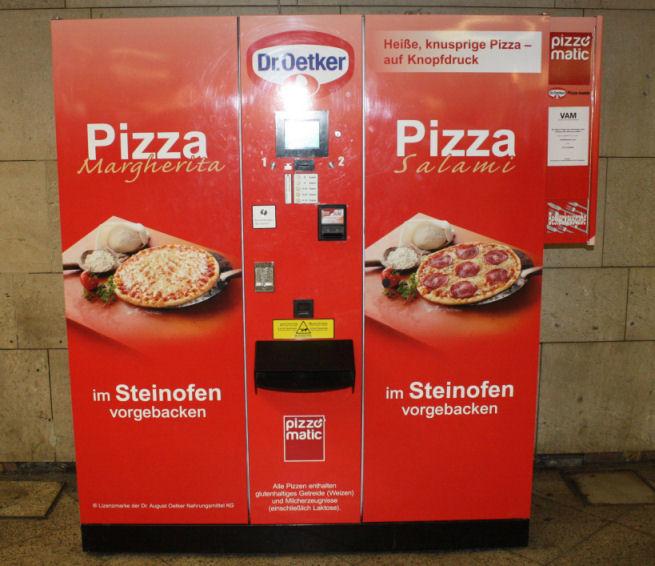 Pizza-Automat im Bahnhof Frankfurt