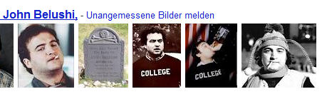 Screenshot Google Suche nach John Belushi