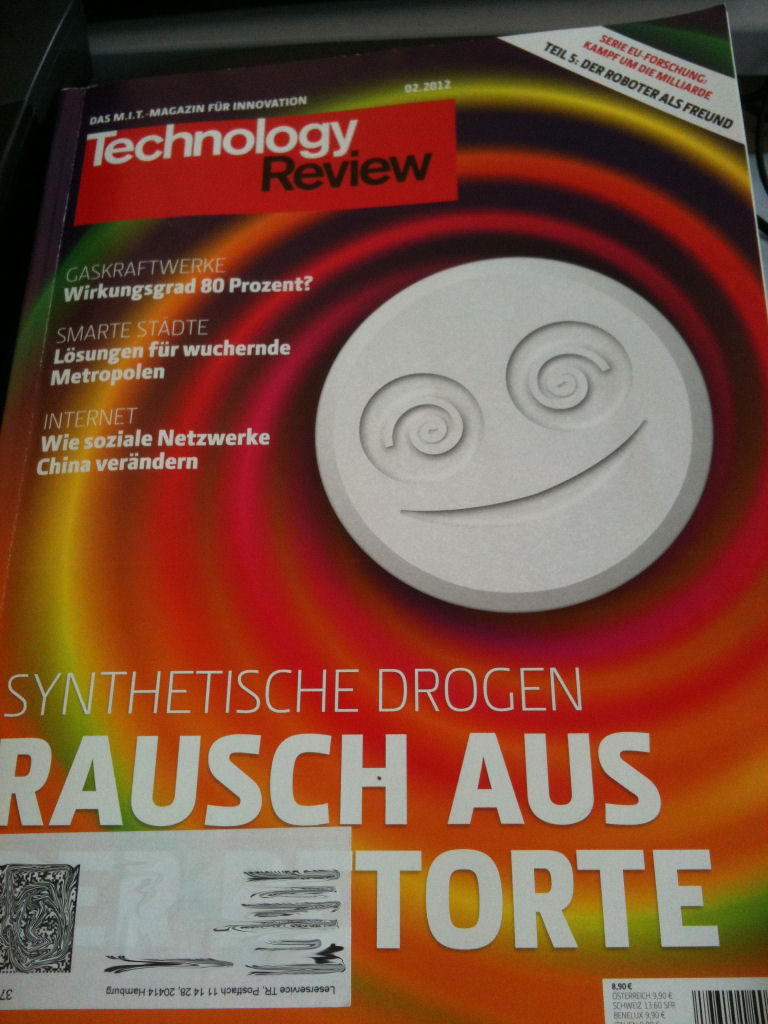 Technology Review Cover 02/2012: Rausch aus der Torte